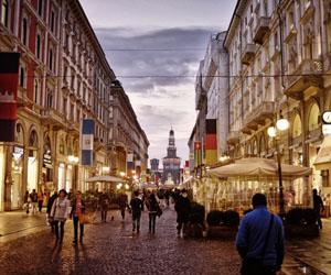 centrum Milaan, Italië